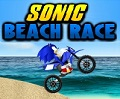 Sonic carrera en la playa