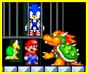 Mario salvando a Sonic