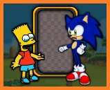 Sonic vs Bart Simpson
