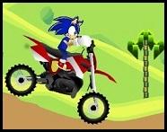 Sonic en su nueva Motocileta